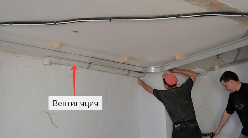 установка вентиляции на кухне фото