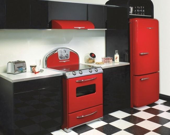 кухня в красно черных тонах фото