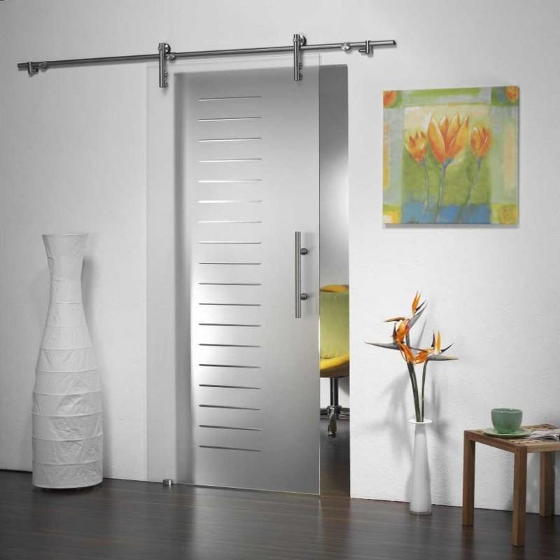 стеклянная дверь на кухню фото