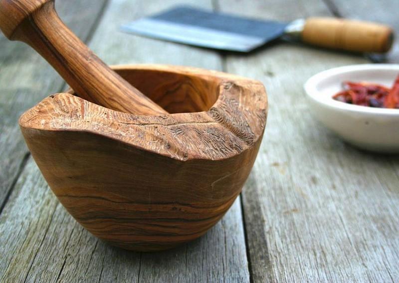 деревянная ступка с пестиком фото