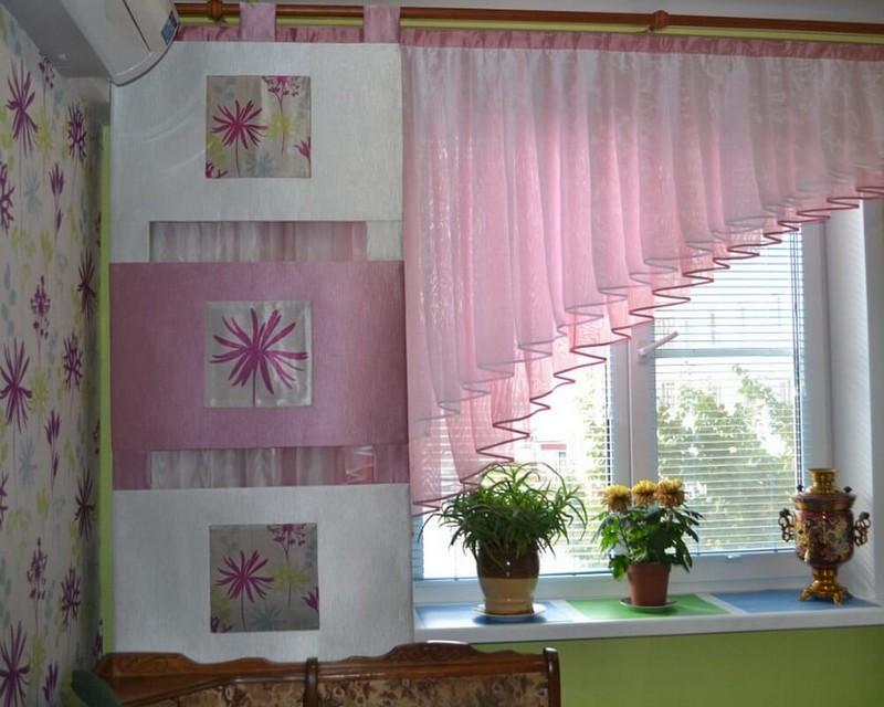 Дизайн фото коротких штор
