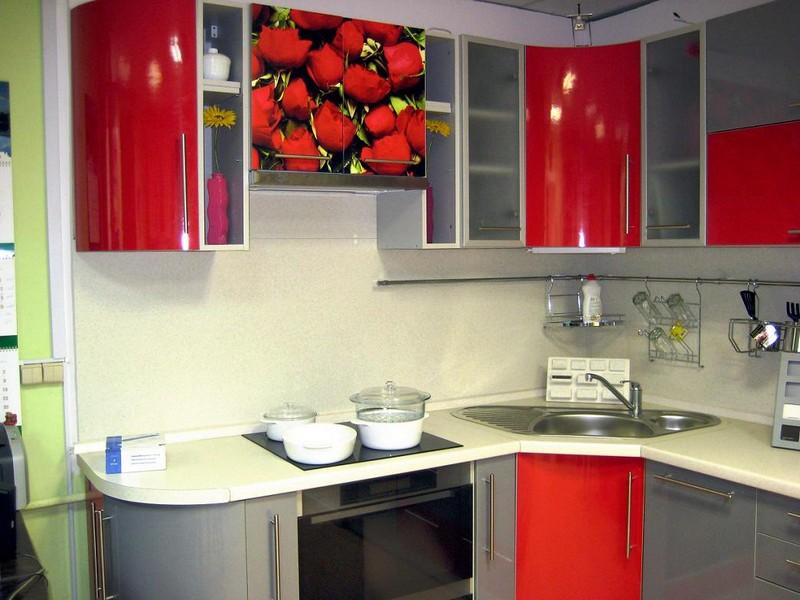 кухни из пластика с фотопечатью фото