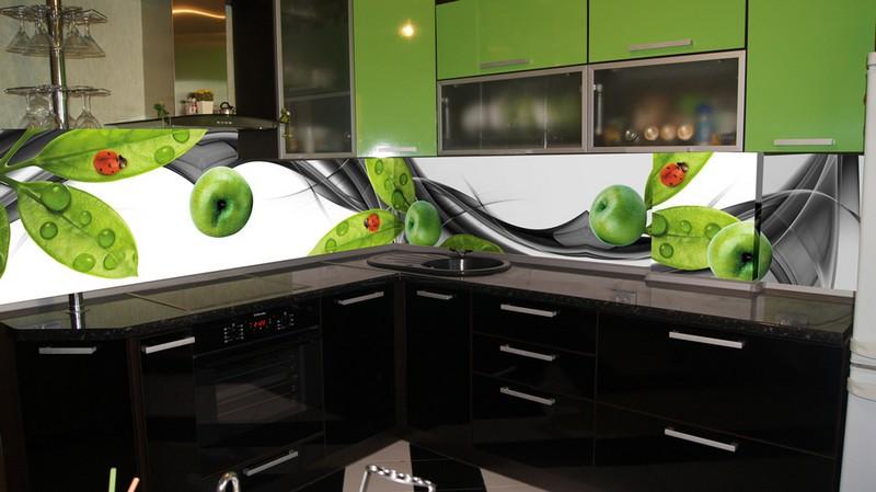 кухня оливкового цвета фото