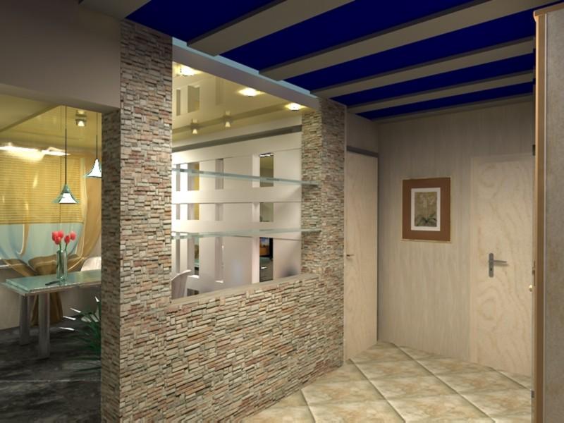 кухня в коридоре фото