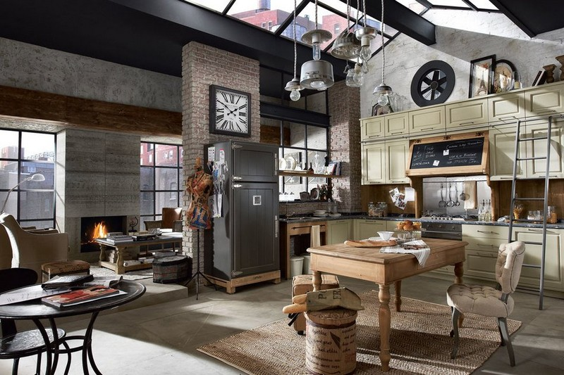 кухня в стиле фьюжн фото