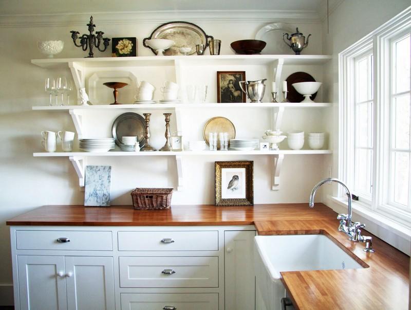 настенные полки для кухни фото