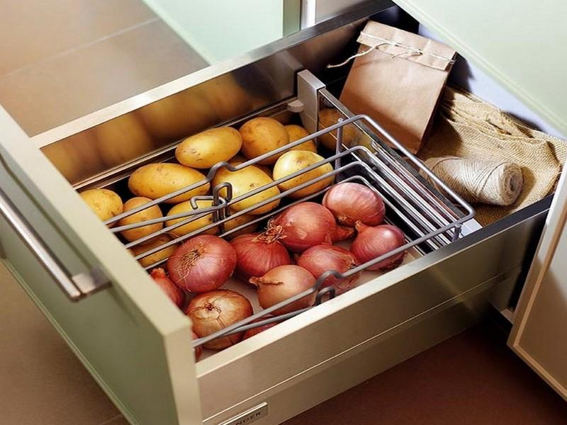 комод на кухню для хранения фото