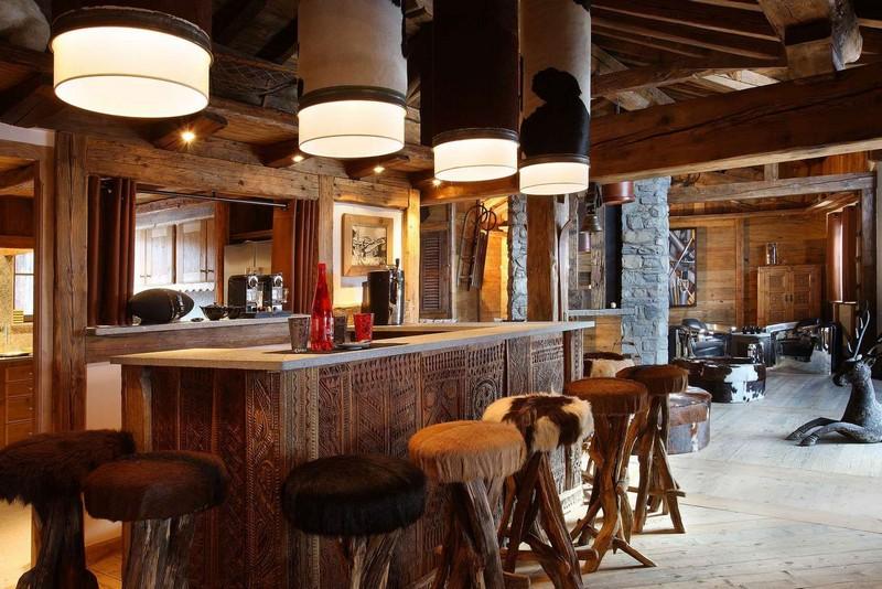 кухня в стиле современный шале фото