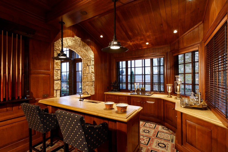 кухня в стиле шале фото