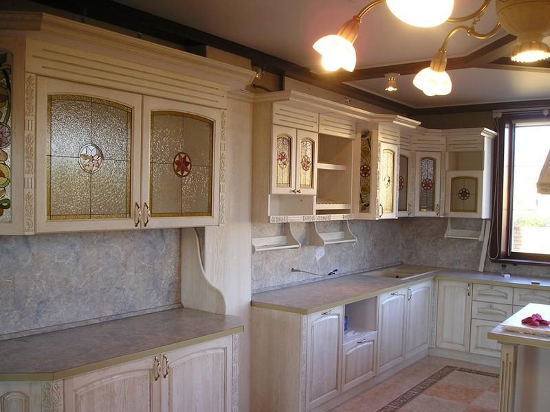 дизайн кухни под старину фото