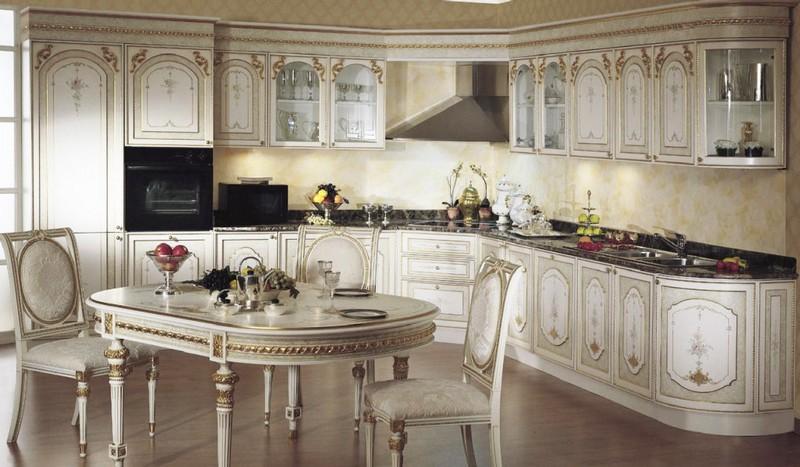 интерьер кухни в стиле барокко фото