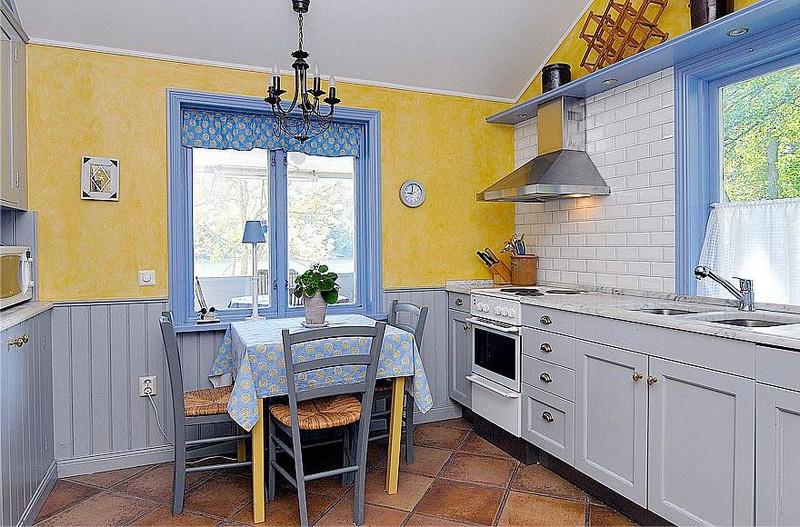 греческий стиль в интерьере кухни фото
