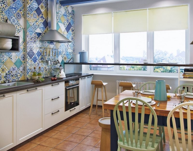 плитка для кухни в греческом стиле фото