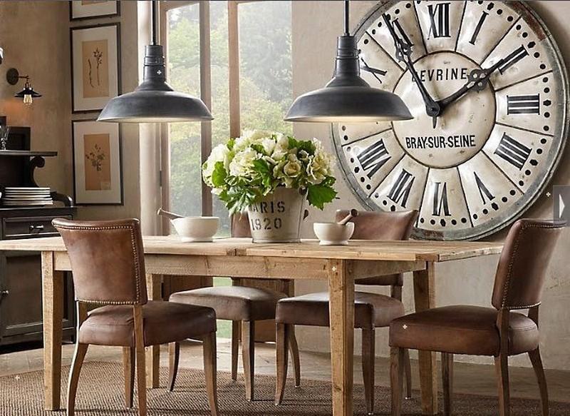 большие часы на кухне фото