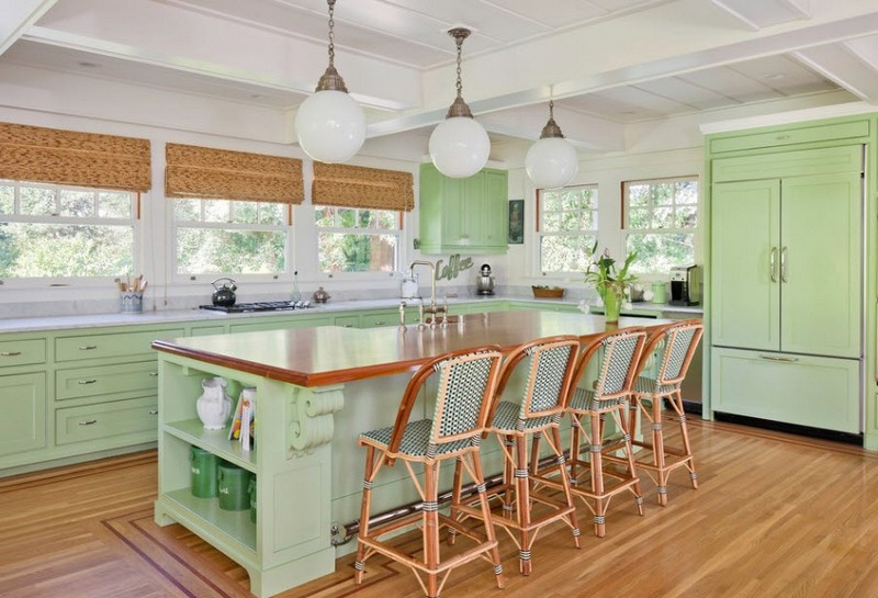 кухня мятного цвета в стиле прованс фото
