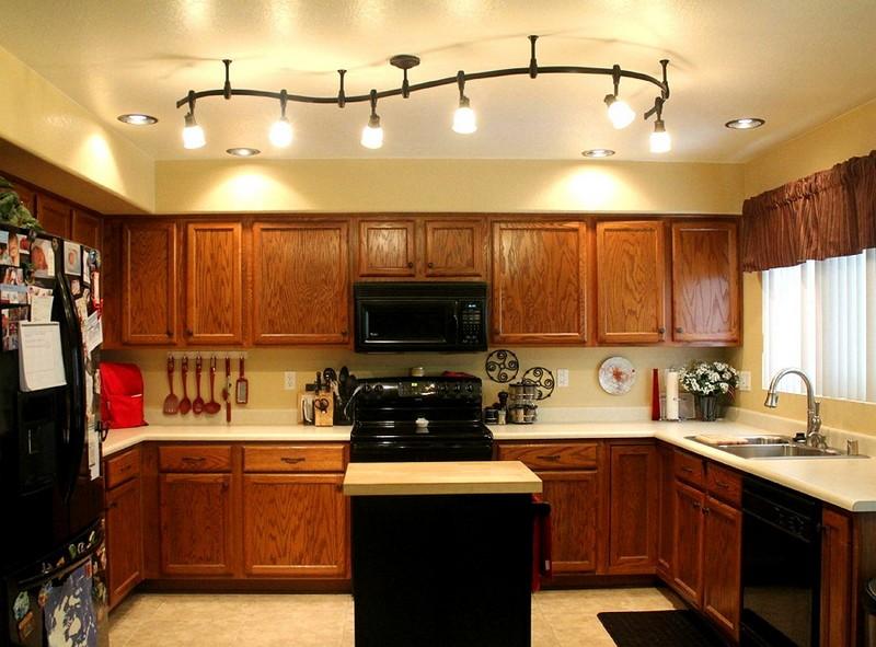 потолочные светодиодные светильники для кухни фото