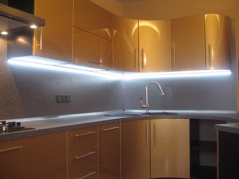 светодиодный светильник для кухни под шкаф фото