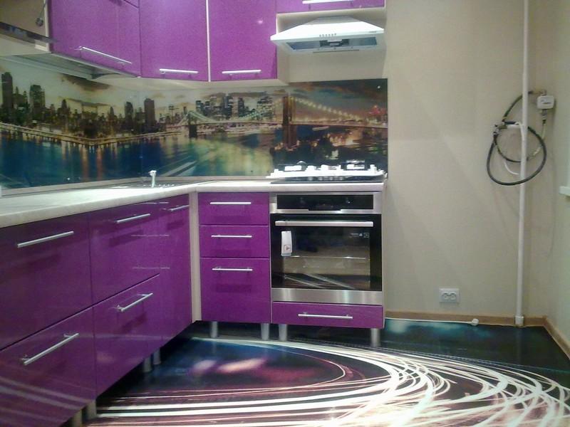 3d пол на кухне фото