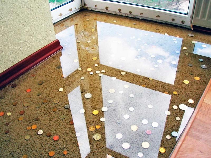 декоративный наливной пол фото
