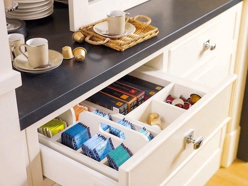 порядок в шкафах на кухне фото