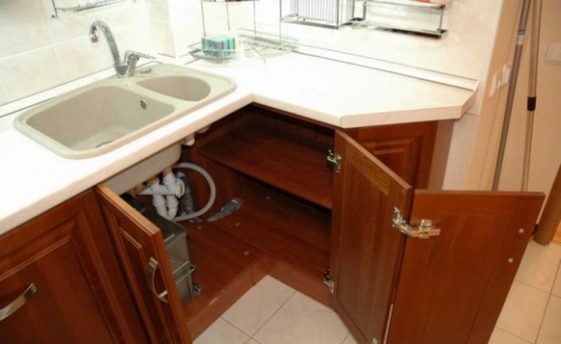 угловой шкаф для кухни фото